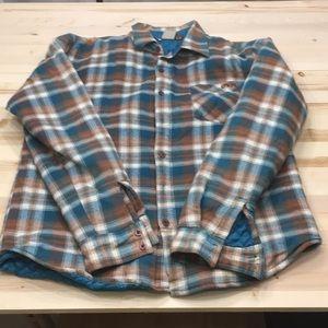 O'Neill plaid insulated jacket sz L